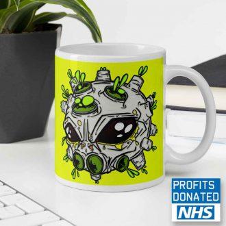 alien virus coffee mug