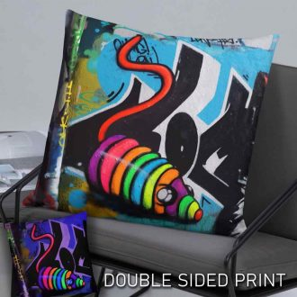 rainbow mouse toy graffiti cushion