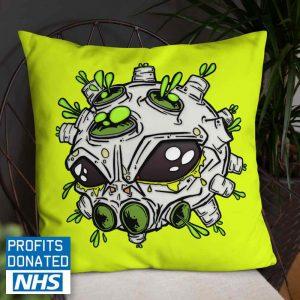 alien virus art cushion printdub