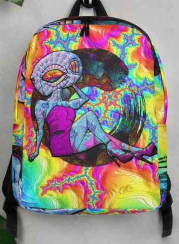 psychedelic enzo alien backpack