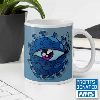 viral eyeball coffee mug