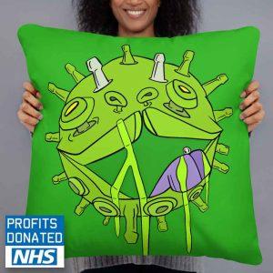 viral puppy art print cushion