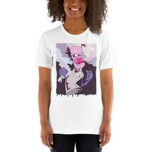 womens graffiti style stardawg weed t-shirt white colour